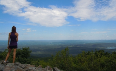 Scenic view along the Blue-Blazed Hiking Trail System