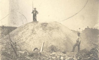 Colliers with a charcoal mound
