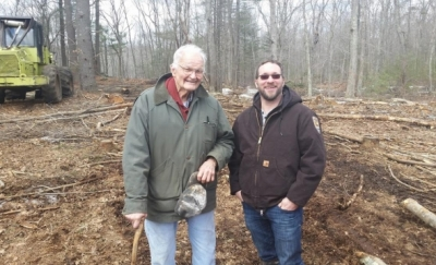 Chris Glenney and Ted Kendziora on Glenney Easement
