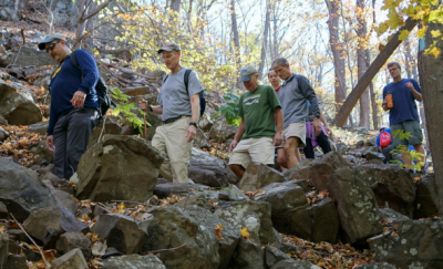 The Winslow Society hiking Chauncey Peak