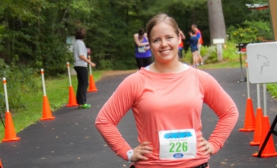 Jordan Nyberg at the start line of CFPA's 2014 Run for the Woods