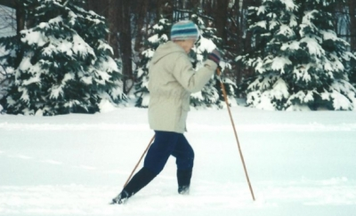 Laura Clementsen enjoyed the CT trails on her cross country skis.