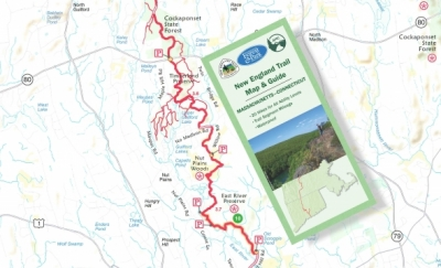 Appalachian Trail New England Map.Just Released New England Trail Map Guide Connecticut Forest