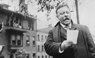 President Theodore Roosevelt on the stump
