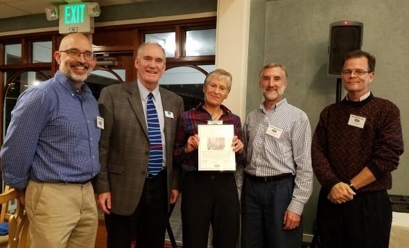 CT Trail Runner Receive Award for Volunteer Service. Photo Credit: Eric Hammerling