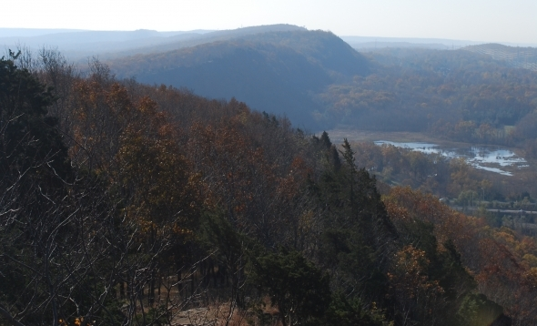 South facing view from the New England Trail, Mattabesett Section, Mt. Higby