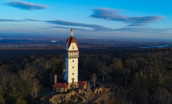 Heublein Tower aerial