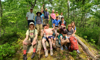 A hiking group from Trails Day.