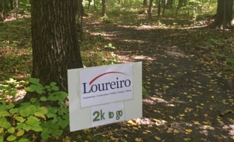 Loureiro Sponsor sign on trail